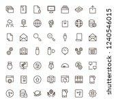 data exchange icon set....   Shutterstock .eps vector #1240546015