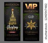 christmas poster with golden... | Shutterstock .eps vector #1240547482