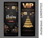 christmas poster with golden... | Shutterstock .eps vector #1240547515