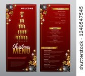 christmas menu design with...   Shutterstock .eps vector #1240547545