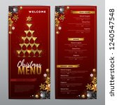 christmas menu design with...   Shutterstock .eps vector #1240547548