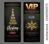 christmas poster with golden... | Shutterstock .eps vector #1240550575