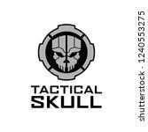 skull tactical circle   Shutterstock .eps vector #1240553275