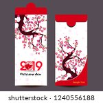 chinese new year red envelope... | Shutterstock . vector #1240556188