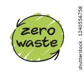 Zero Waste Handwritten Text...