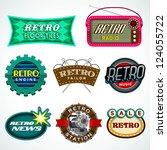 retro icon set   Shutterstock .eps vector #124055722