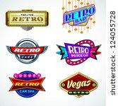 retro icon set   Shutterstock .eps vector #124055728