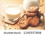 close up of a tasty homemade... | Shutterstock . vector #1240557808