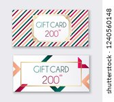 voucher template with color... | Shutterstock .eps vector #1240560148