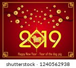happy  chinese new year  2019... | Shutterstock . vector #1240562938