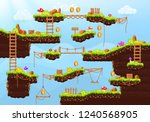 video game. elements and... | Shutterstock .eps vector #1240568905