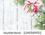 christmas background with... | Shutterstock . vector #1240569052