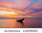 Small Wooden Fisherman Boat At...