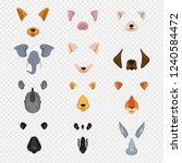 video mobile chat animal faces. ... | Shutterstock .eps vector #1240584472