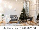 christmas decor. bright... | Shutterstock . vector #1240586188