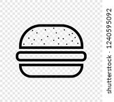 burger icon  vector transparent ...