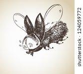 hand drawn bug | Shutterstock .eps vector #124059772