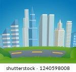 vector illustration cartoon... | Shutterstock .eps vector #1240598008