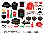 ugly christmas sweater party ... | Shutterstock . vector #1240604068