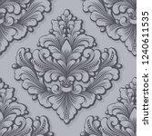 vector damask seamless pattern... | Shutterstock .eps vector #1240611535