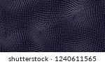 vector blue field visualization ... | Shutterstock .eps vector #1240611565