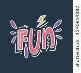 vector ornate lettering... | Shutterstock .eps vector #1240614382