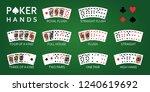 texas hold'em poker hand... | Shutterstock .eps vector #1240619692