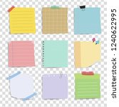 colorful reminder paper notes... | Shutterstock .eps vector #1240622995