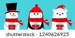 polar white bear  penguin ... | Shutterstock .eps vector #1240626925