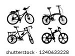 silhouette set of vintage bike... | Shutterstock . vector #1240633228