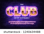 golden font with neon on the... | Shutterstock .eps vector #1240634488