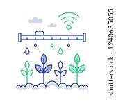 smart farm technology and... | Shutterstock .eps vector #1240635055