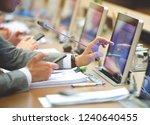 conference room or seminar... | Shutterstock . vector #1240640455