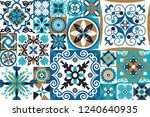 seamless patchwork tile with... | Shutterstock .eps vector #1240640935