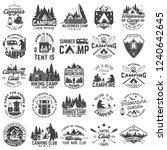 summer camp. vector. concept... | Shutterstock .eps vector #1240642645