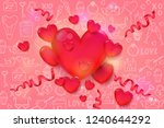 valentines day background with... | Shutterstock .eps vector #1240644292