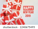 happy new year 2019 greeting... | Shutterstock . vector #1240675495