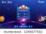 level complete space game ui... | Shutterstock .eps vector #1240677532