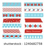 christmas decorative adhesive... | Shutterstock .eps vector #1240682758