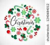 merry christmas and happy new... | Shutterstock . vector #1240684012