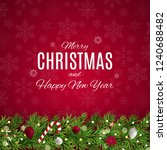 merry christmas and new year... | Shutterstock .eps vector #1240688482