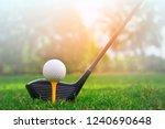 golf balls on the golf course... | Shutterstock . vector #1240690648