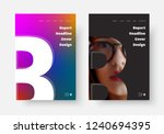 design of vector black and... | Shutterstock .eps vector #1240694395
