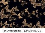 variety of tropical butterflies ... | Shutterstock .eps vector #1240695778