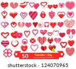 valentine's day vector design... | Shutterstock .eps vector #124070965