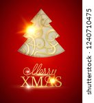 merry christmas and happy new... | Shutterstock .eps vector #1240710475