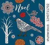 winter print design  bird in...   Shutterstock .eps vector #1240711702
