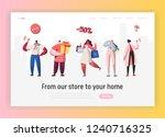 online sale purchases... | Shutterstock .eps vector #1240716325