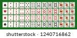 set of gambling cards   full... | Shutterstock .eps vector #1240716862