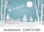 merry christmas  santa claus... | Shutterstock .eps vector #1240717402